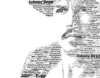 Typography Johnny Depp