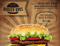 Burger/Fast Food Promotion Flyer Template