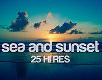 sea & sunset + free background