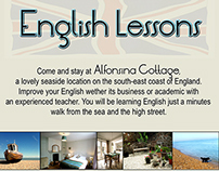 A poster for English Lessons