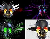 Hydra Skull - VJ Loop Pack (6in1)