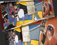 Ponja Roca y Yamiel Montiel Mural por la voz