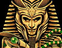 Various Icons Re-Imagined as King Tut