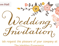 Bedern Hall Wedding Invitation