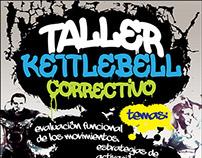 Afiche Taller Kettlebell.
