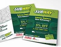 Subway Takeaway Menu