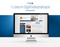 I Liceum Ogólnokształcące - Projekt strony www