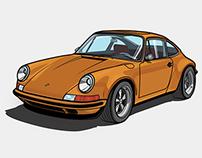 Porsche 911 Classic - Vetor