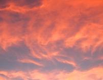 Camino de una puesta de Sol
