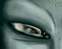 Green black eyes