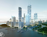 City sky view