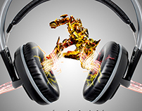 Concept Poster for Headphone