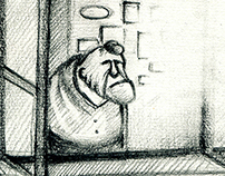 Storyboard for cartoon film