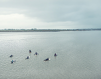 Surfers on the Severn Bore for Men's Fitness magazine
