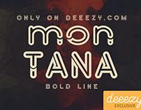 Montana Bold Outline - Free Font