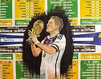 World cup wall chart recycle project