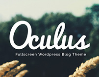 Oculus - Fullscreen Responsive Wordpress Blog