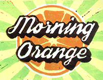 """Morning orange"" lino print"