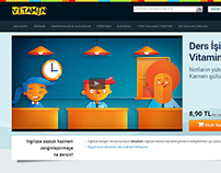 Vitamin Ortaokul - Responsive Web Site