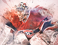 NHL: Carey Price, MTL Canadiens Digital Sketch