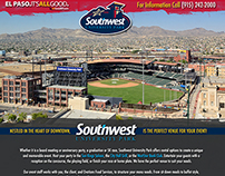 Web: Southwest University Ballpark Splash Page