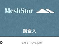 Meshstor Mobile App Design
