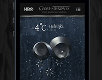 HBO Game of Thrones - Seven Kingdoms Weather App