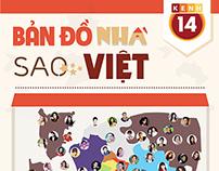 Kênh14 - Bản đồ nhà Sao Việt - Infographic