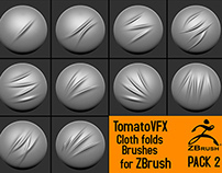 TomatoVFX - Cloth folds brushes PACK 2