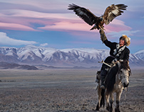Mongolian Eagle Hunters.