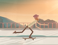 Skateboarding Short Animation