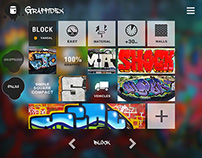 Graffidex app: graffiti themed tactile interface