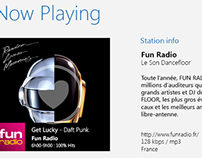Radioline UX/UI: Windows 8 & Android tablet version