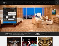 Wynn Resorts Website Redesign - concept