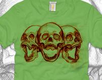 skull t-shirt design for Artsprojekt labz