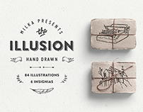 Illusion: hand drawn collection