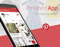 Pinterest with Material Design