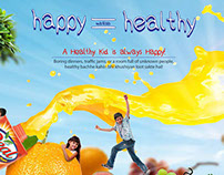 Real Happy is Healthy concept