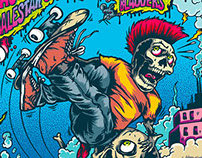 Skate and Fight 2014 Gigposter