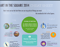 Cheat Sheet for Art in the Square 2014