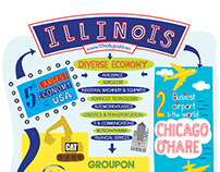 Hand lettering for State of Illinois Exhibition Panel