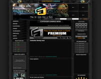 Attempt at website home redesign for Contendergaming