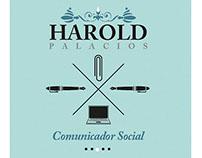 Harold Palacios. Comunicador Social