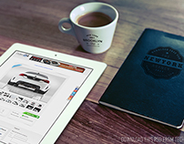 Good Morning (iPad, Cup Logo & Notebook Logo) mockup