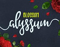 FREE Alyssum Blossom Font Duo
