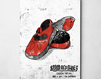 SIEBDRUCKPLAKAT: BLOOD RED SHOES