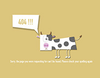 404 Error Page (Animal version)