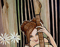 """Grit & Grain"" -- Acrylic Painting Series on Wood"