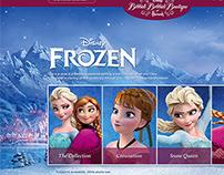 Harrods Boutique - Disney Frozen experience UI