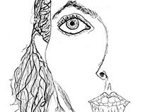 Self-Portrait in Ink